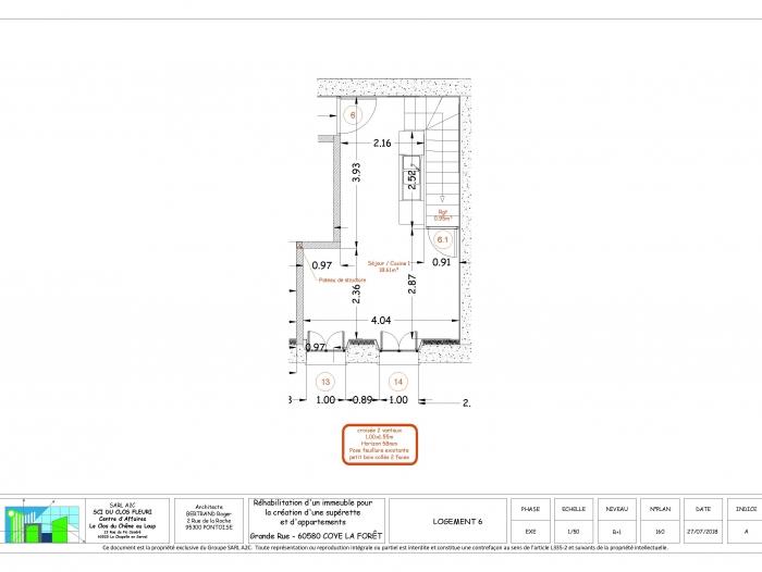 Location Appartement 2 pièces Coye-la-Forêt (60580) - Proche Gare SNCF et RER